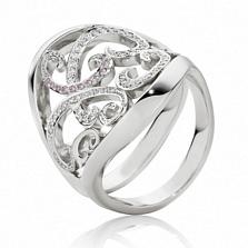 Кольцо Argile-F с бриллиантами и розовыми сапфипами