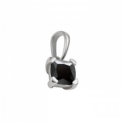 Серебряный кулон Клео с черным цирконием