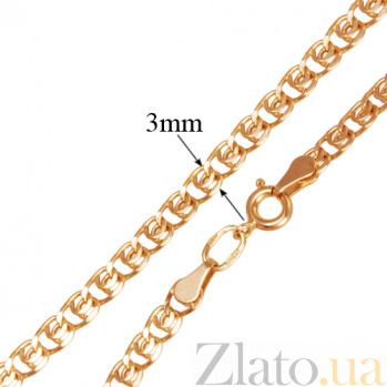 Золотой браслет Анжелика в плетении лав, 3мм 000050571