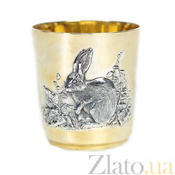 Серебряный стакан Кролик 514