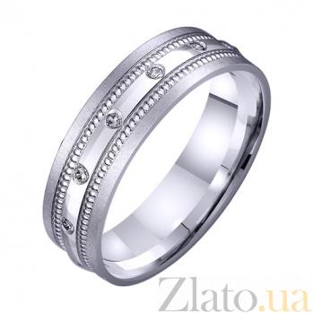 Золотое обручальное кольцо Феерия чувств с фианитами TRF--422513