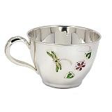 Серебряная чашка Стрекоза с эмалью