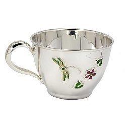 Серебряная чашка Стрекоза с эмалью 000043509