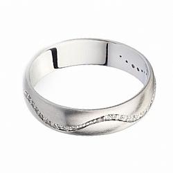 Обручальное кольцо с бриллиантами Wave of love