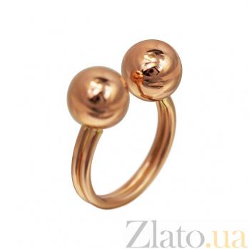 Кольцо из красного золота Шарики 000081346
