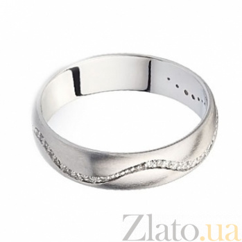 Обручальное кольцо с бриллиантами Wave of love SG--1610840000200