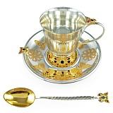 Детский серебряный набор посуды Сказочный сад