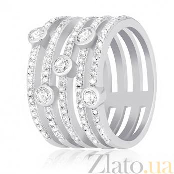 Серебряное кольцо Фонтэйн с цирконием 000030911