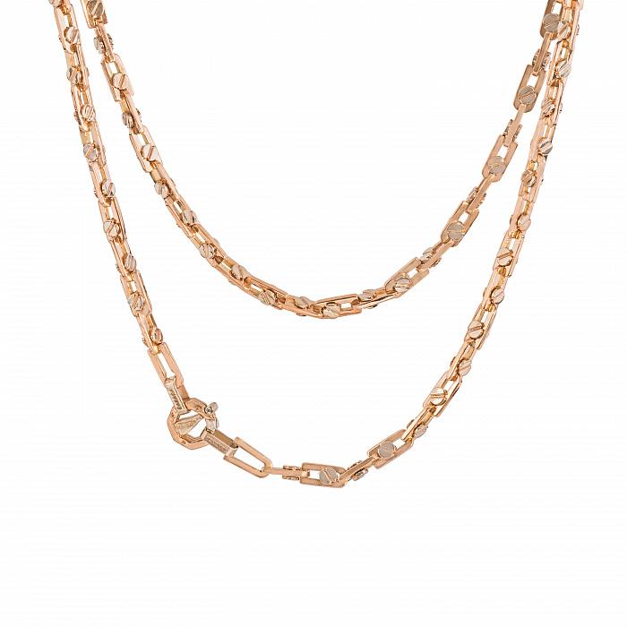 Золотая цепь Baraka Энтузиаст в комбинированном цвете с фианитом 000068445