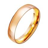 Золотое обручальное кольцо Свадебная классика