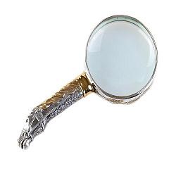 Серебряная лупа с позолотой 000004898
