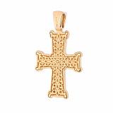 Серебряный крестик с позолотой и чернением Святой Дух