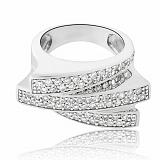 Серебряное кольцо Аполлинария с фианитами