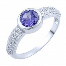 Серебряное кольцо Варда с александритом и фианитами