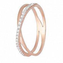 Позолоченное серебряное кольцо с цирконием Офелла
