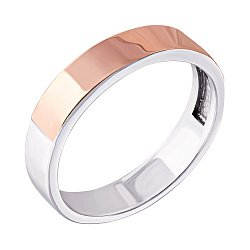 Серебряное кольцо с золотой накладкой Веста