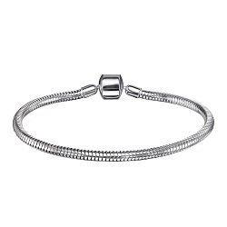 Серебряный браслет для шармов 000124413