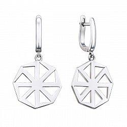 Серебряные серьги-подвески Коловрат 000134374