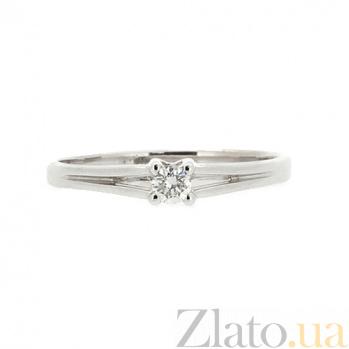 Кольцо из белого золота Намия с бриллиантом 000021439