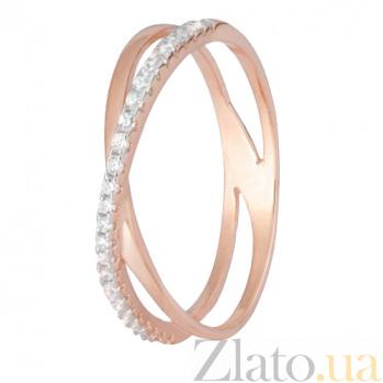 Позолоченное серебряное кольцо с цирконием Офелла SLX--К3Ф/200