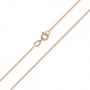 Золотий ланцюжок в червоному кольорі панцирного плетіння, 1мм 000101631