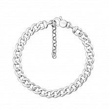 Серебряный браслет в панцирном плетении 000131684