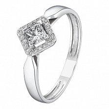 Кольцо из белого золота с бриллиантами Орнелла