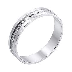 Обручальное кольцо из белого золота  000134646