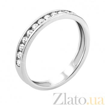 Кольцо в белом золоте Мари с дорожкой из фианитов 11905/б