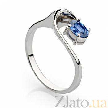 Кольцо из белого золота с синим сапфиром Честер 000030140