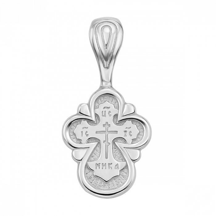 Серебряный крестик с надписью на тыльной стороне 000117898 000117898