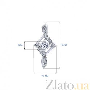 Серебряные серьги с цирконами Моника AQA--2421