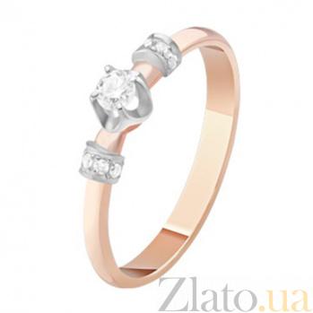 Золотое кольцо с бриллиантами Аглая KBL--К1114/комб/брил
