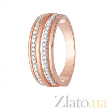 Серебряное кольцо с позолотой и фианитами Паула SLX--КК3Ф/217