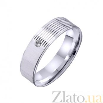 Золотое обручальное кольцо Грани любви с фианитом TRF--422263