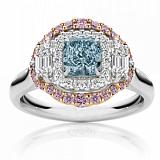 Кольцо Argile-Q с топазом, розовыми сапфирами и бриллиантами