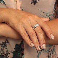 Серебряное кольцо Шик с фианитами
