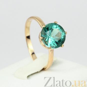 Золотое кольцо Корнелиа с синтезированным аметистом 000024484