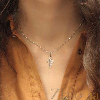 Серебряный крестик Божья помощь 000025367