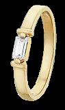 Серебряное кольцо с фианитом Дана