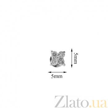 Золотые серьги-пуссеты с бриллиантами Мэри ZMX--ED-6560w_K