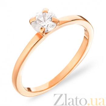 Золотое помолвочное кольцо с фианитом Возвышенные чувства SUF--140282