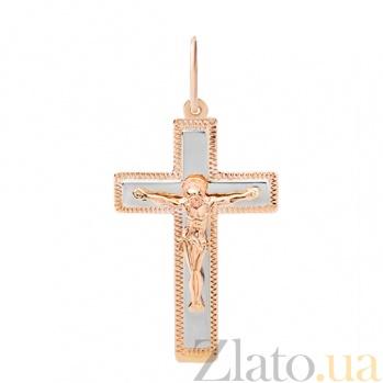 Крестик из красного золота Вера HUF--101-МО НВ
