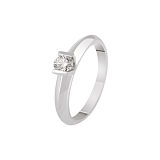 Золотое кольцо Миледи с бриллиантом