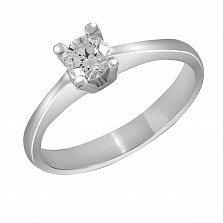 Кольцо из белого золота Чары любви с бриллиантом
