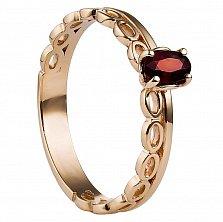 Золотое кольцо Луиза с рубином