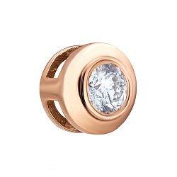 Подвеска из красного золота с бриллиантом 000133993