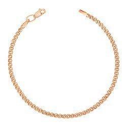 Золотой браслет с родированной алмазной гранью, 3мм 000056955