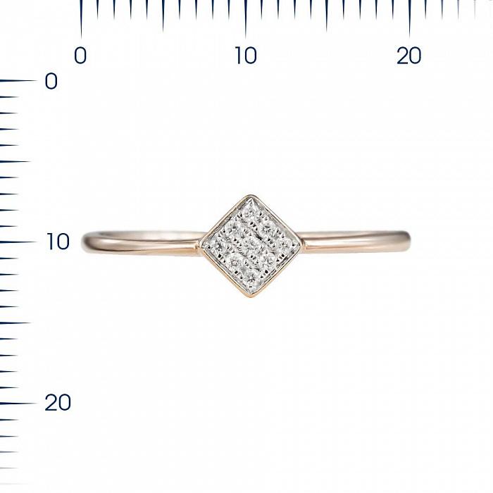 Кольцо из красного золота Роберта с бриллиантами 000081998
