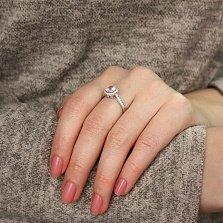 Серебряное кольцо Сладкая россыпь с розовым и белым цирконием